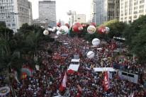 Ativistas contra afastamento de Dilma foram ao Vale do Anhangabaú