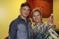 Paulo Henrique Rodrigues e Ingrid Stemmer recepcionaram os confrades