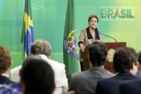 Presidente Dilma Rousseff concedeu entrevista coletiva a veículos estrangeiros no Palácio do Planalto
