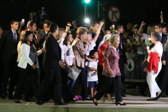 Dilma disse que a democracia, para ela, também é uma questão de luta contra o preconceito de gênero