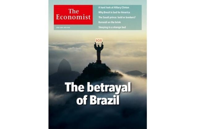 Imagem do Cristo Redentor com SOS para o Brasil