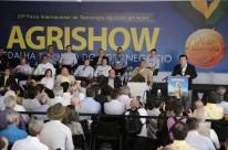 Fábio Meirelles, presidente da Faesp, discursa na abertura da Agrishow