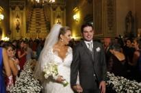 Camila Solano e Gerson Garcia na Igreja Nossa Senhora das Dores