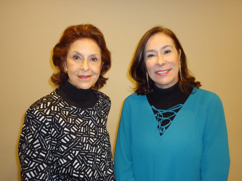 Vera de Nonohay Schneider e Tania Bian no Sheraton Hotel