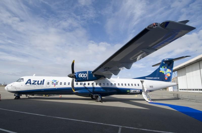 Turboélice ATR 72-600, com 70 assentos, fará a nova rota da Azul