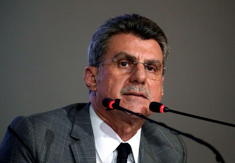 Ministro do Planejamento, Romero Jucá, em coletiva sobre o déficit primário para 2016