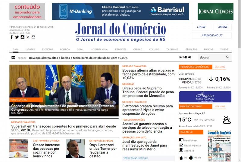 Com portal renovado, JC também tem boa audiência na versão on-line