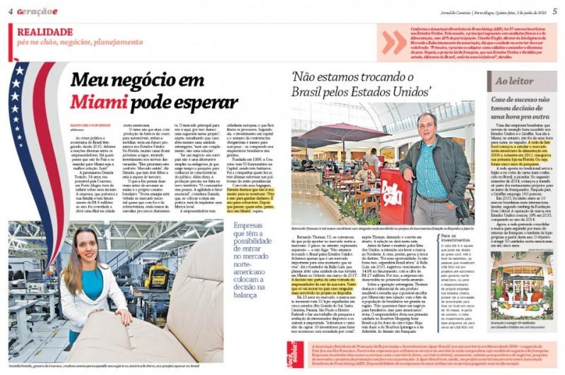 Reportagem impressa do GeraçãoE fala de internacionalização