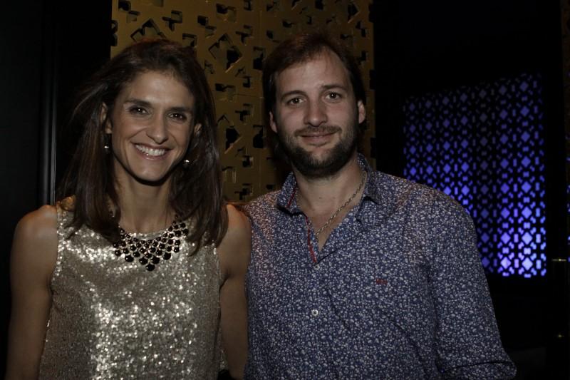 Jacinta Fernandez e Facundo Márquez participaram do jantar exclusivo