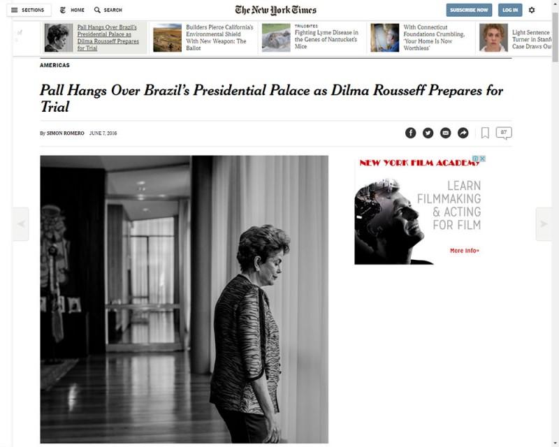 Ela voltou a afirmar ao jornal norte-americano que não vai renunciar
