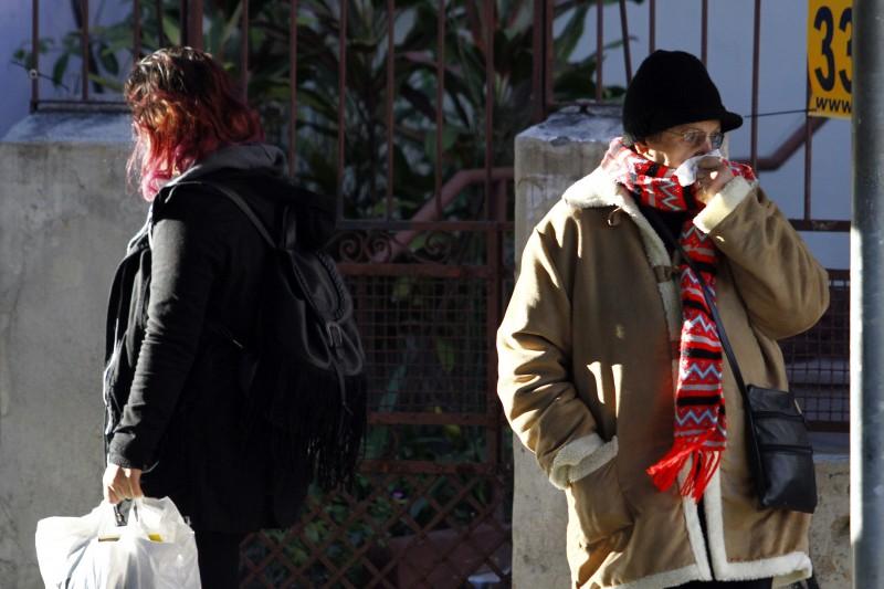 Em Porto Alegre, o sol ajudou a amenizar o frio
