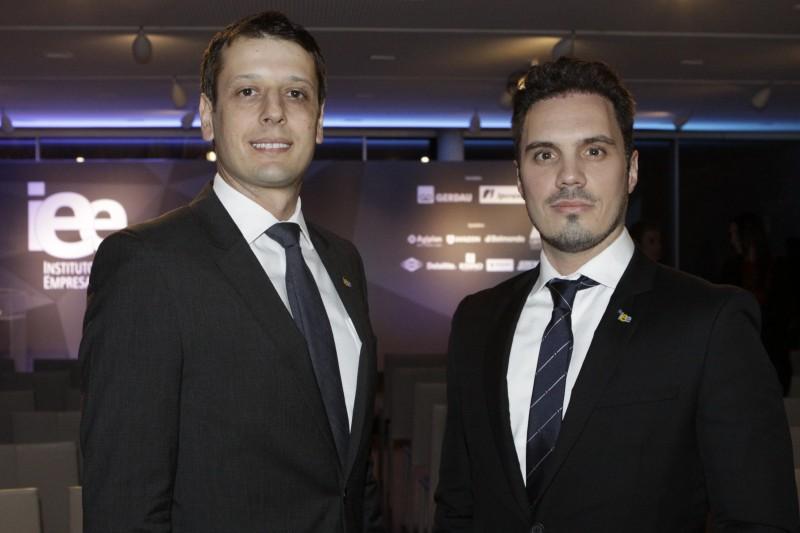 Rodrigo Tellechea Silva e Paulo Costa Fuchs, presidente e vice do IEE