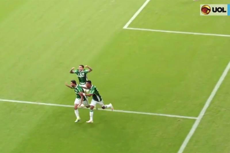 Palmeiras venceu o clássico com gol de Cleiton Xavier