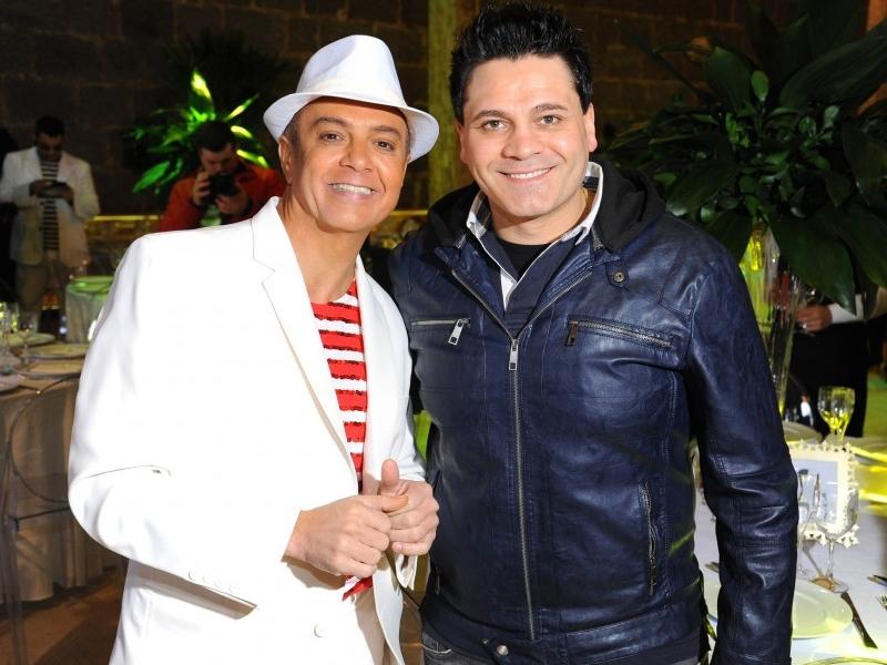 João Pulita com Léo Zanotto na concorrida Feijoada do Pulita, realizada no Café de La Musique Caxias do Sul