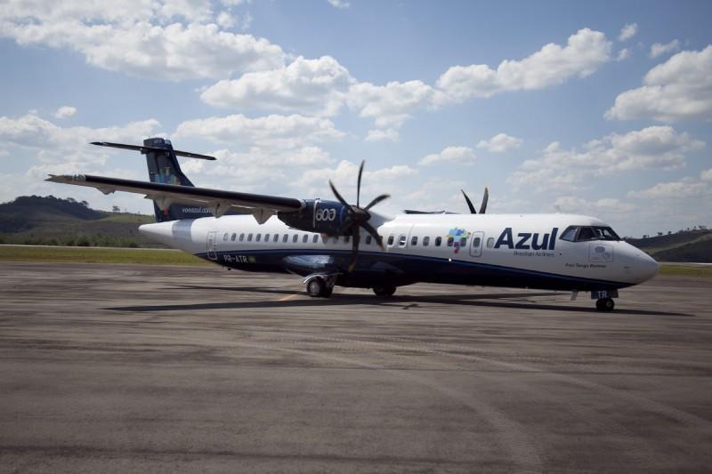 O voo da Azul entre Porto Alegre e Passo Fundo será feito pelo modelo ATR 72-600 com 70 assentos