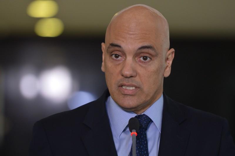 O ministro da Justiça, Alexandre de Moraes, fala à imprensa sobre a segurança na Olimpíada