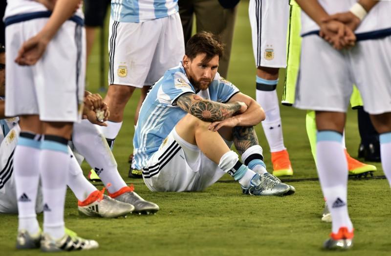 Messi, anunciou no domingo o seu adeus à seleção argentina