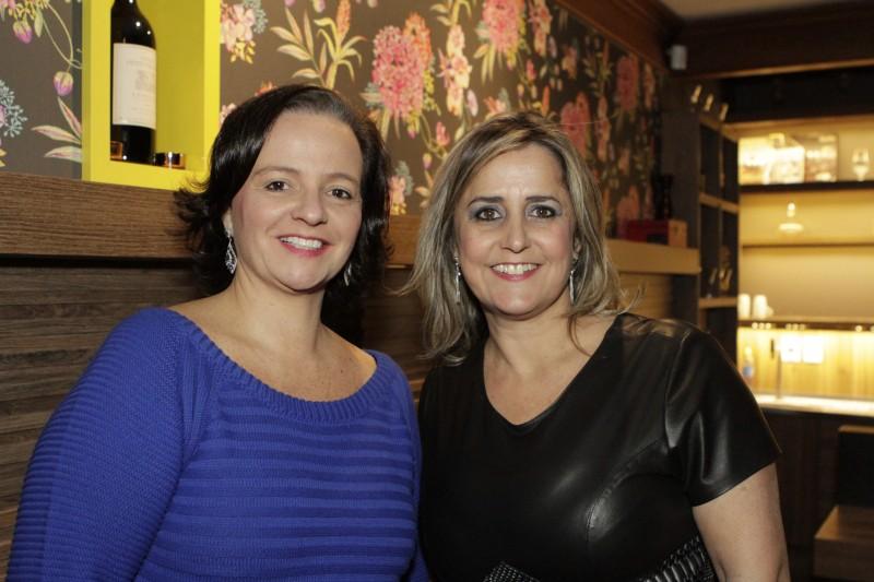 Lize Jung e Luciane Sporleder Salis comandaram o encontro da Confraria Le Gourmet