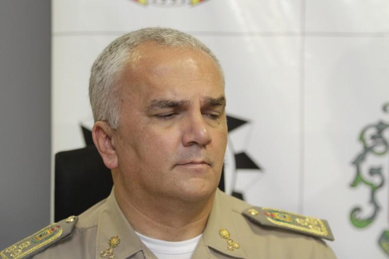 Alfeu Freitas Moreira, coronel, comandante da Brigada Militar