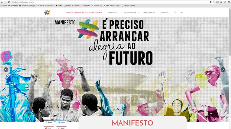 Grupo assina manifesto, que foi postado na internet