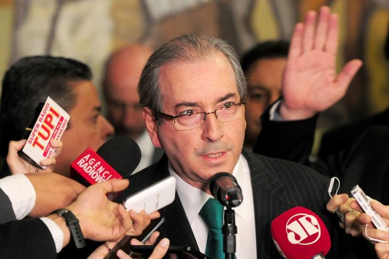 Eduardo Cunha oficializou sua renúncia da presidência da Câmara no início da tarde