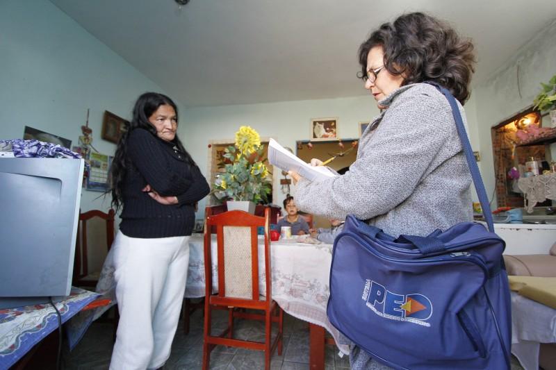 Entrevistadores conhecem as condições de trabalho dos moradores
