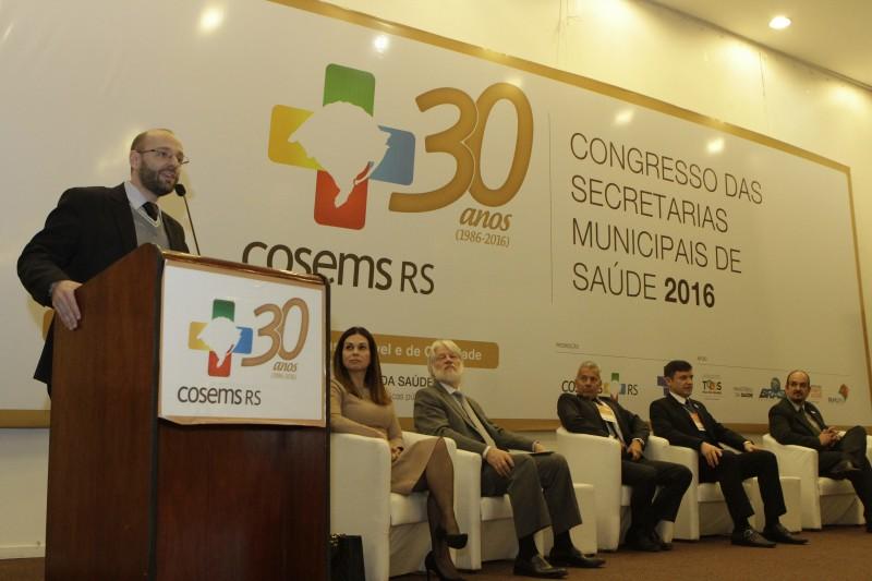 Fernando Ritter foi um dos participantes do Congresso das Secretarias Municipais, que começou ontem