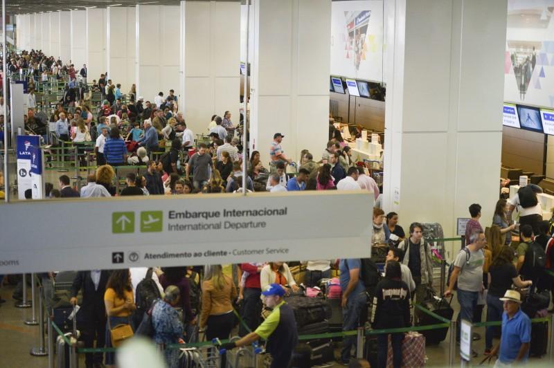 Taxa de ocupação dos voos internacionais em maio ficou em 84,58%, alta 2,33 pontos