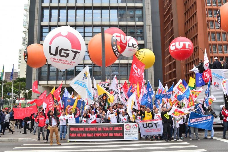 Ato reuniu as maiores centrais sindicais do Brasil