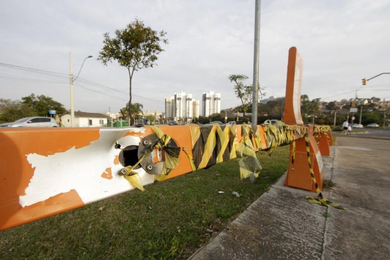 Equipamento instalado na avenida Diário de Notícias está inativo há meses por causa do vandalismo
