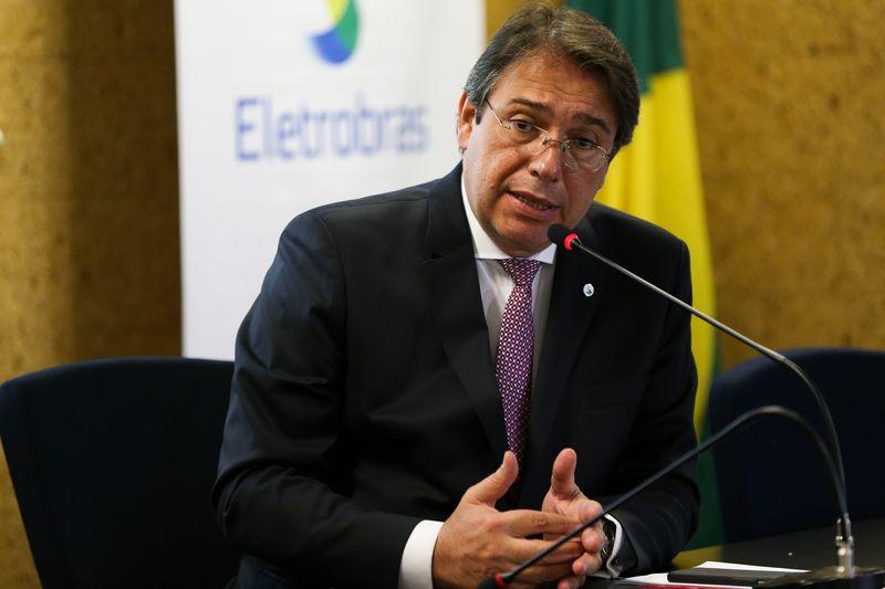 O novo presidente da Eletrobras, Wilson Ferreira Júnior, durante a cerimônia de posse