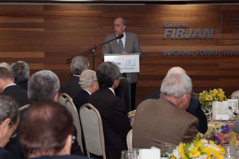 Pedro Parente recebeu prêmio na sede da Firjan, no Rio de Janeiro