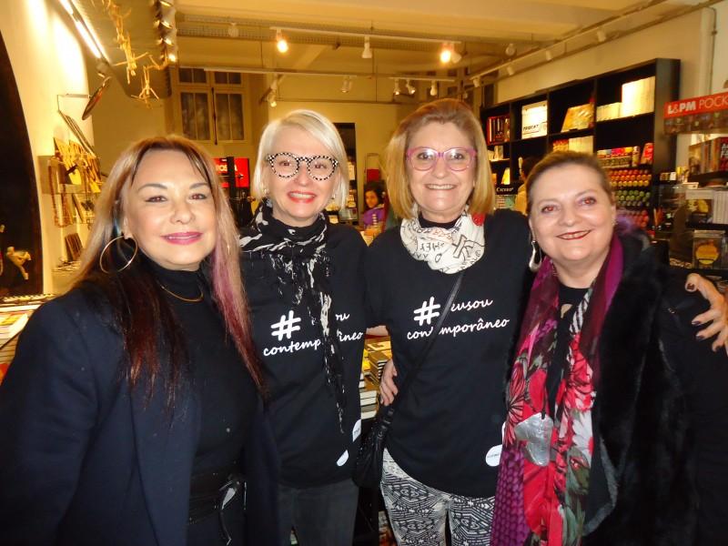 Arminda Lopes, Ana Aita, Bina Monteiro e Zetti Neuhaus organizaram o evento