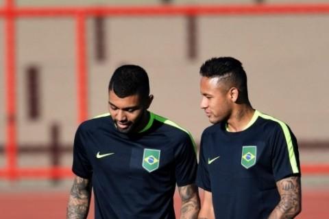 Gabigol e Neymar são as estrelas do jovem time olímpico do Brasil