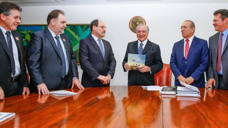 O governador do Rio Grande do Sul esteve em reunião com Michel Temer