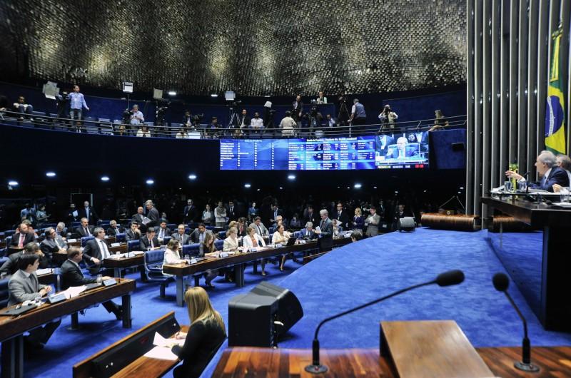 Seis senadores tucanos que abriram mão de usar a palavra para garantir que a votação do processo de impeachment seja mais ágil
