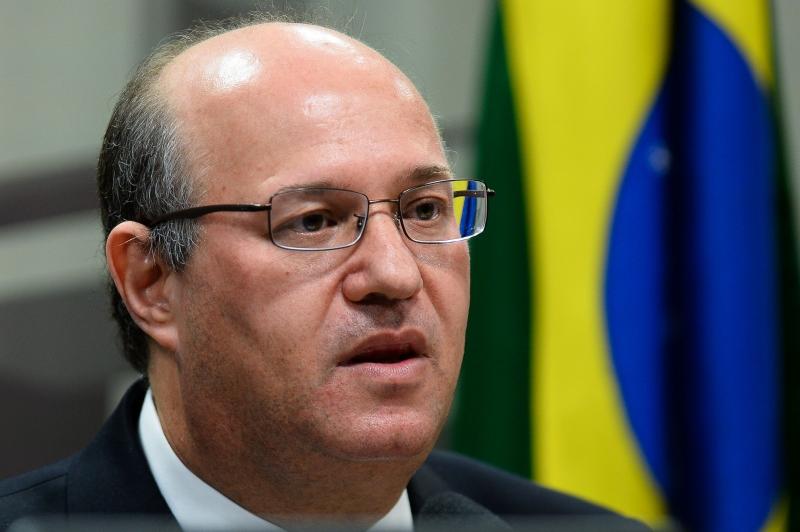 Brazilian Central Bank president-designate Ilan Goldfajn answers questions from senators in the Economic Affairs Committee in Congress, in Brasilia, June 7, 2016.  / AFP PHOTO / ANDRESSA ANHOLETE