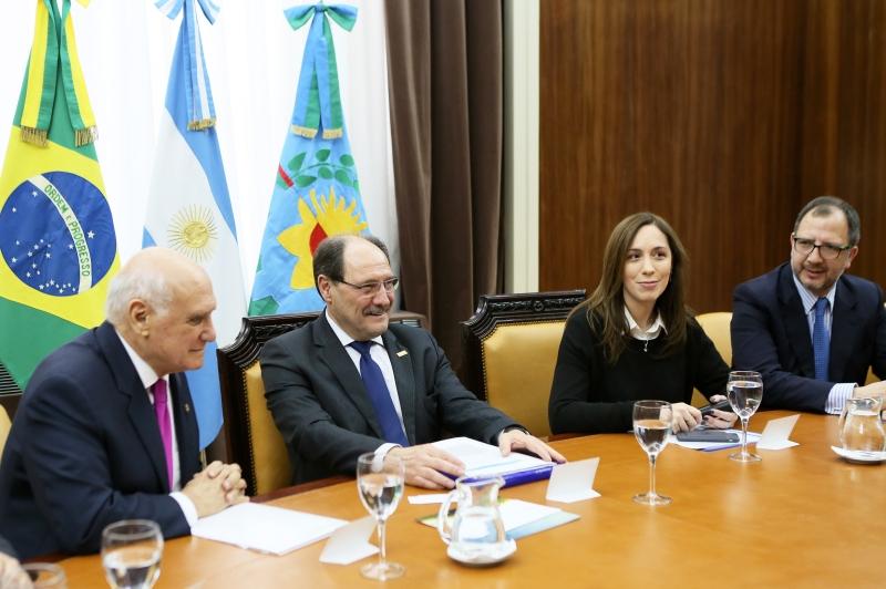 A missão gaúcha foi recebida pela governadora de Buenos Aires, Maria Eugenia Vidal