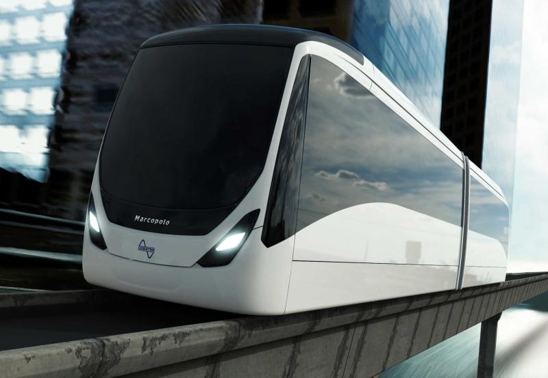 Marcopolo lançou Viale BRT como modelo de aeromóvel