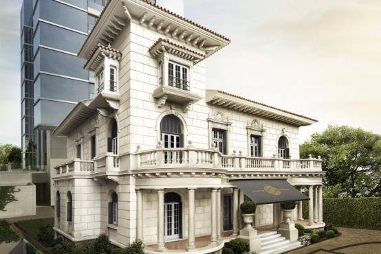 Paço Santo Inácio, no bairro Moinhos de Vento, terá prédio moderno ao fundo