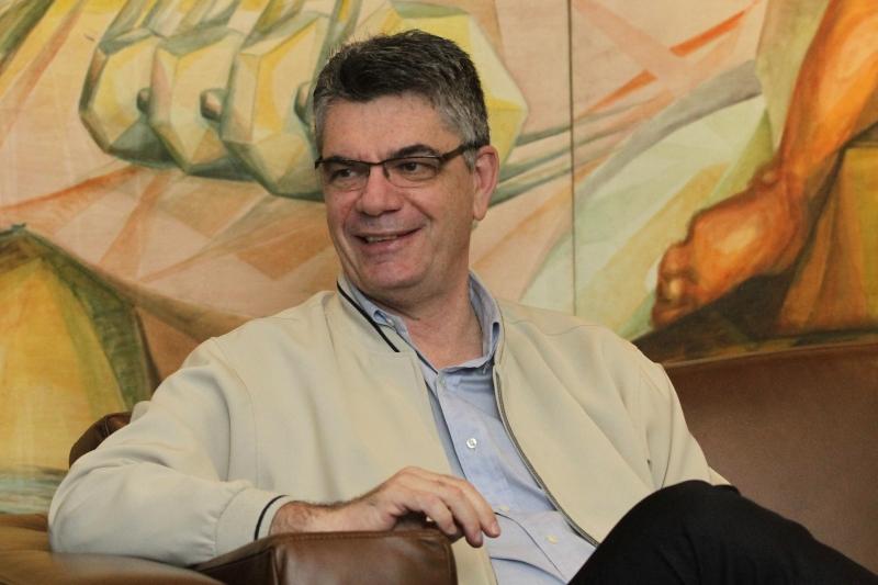 Marcelo Rech visitou as dependências do Jornal do Comércio