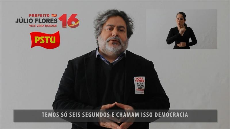 Julio Flores, candidato do PSTU, quer