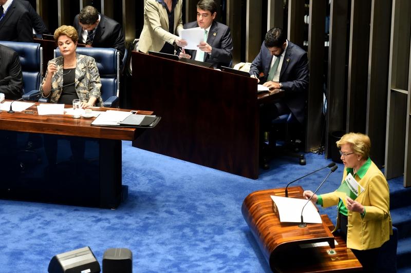 """Em resposta à senadora Ana Amélia (PP-RS), presidente afastada afirmou que está sendo alvo de um """"golpe parlamentar"""""""