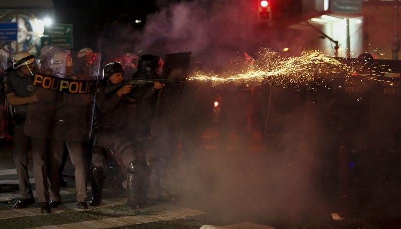 É o terceiro caso em três anos em que manifestantes ou profissionais de imprensa ficam cegos de um dos olhos em consequência de ação policial