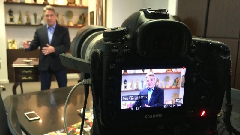 Germano Rigotto em campanha para ajudar candidatos do PMDB