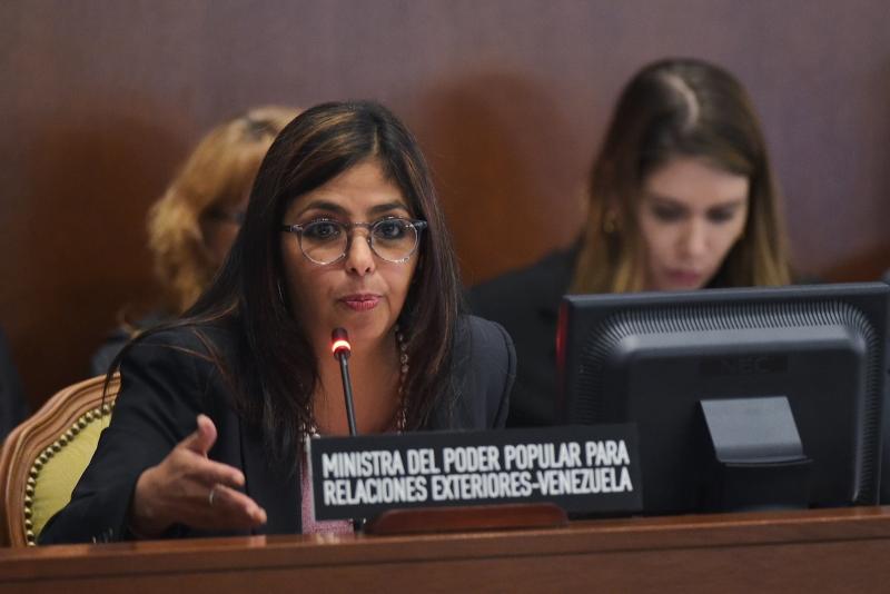 Para a chanceler Delcy Rodríguez, medida é reflexo de política intolerante