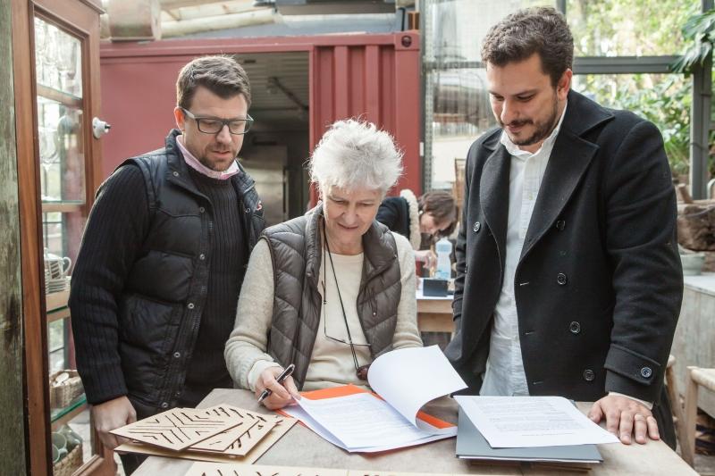Ricardo, Heloísa e Márcio trabalharam juntos no projeto