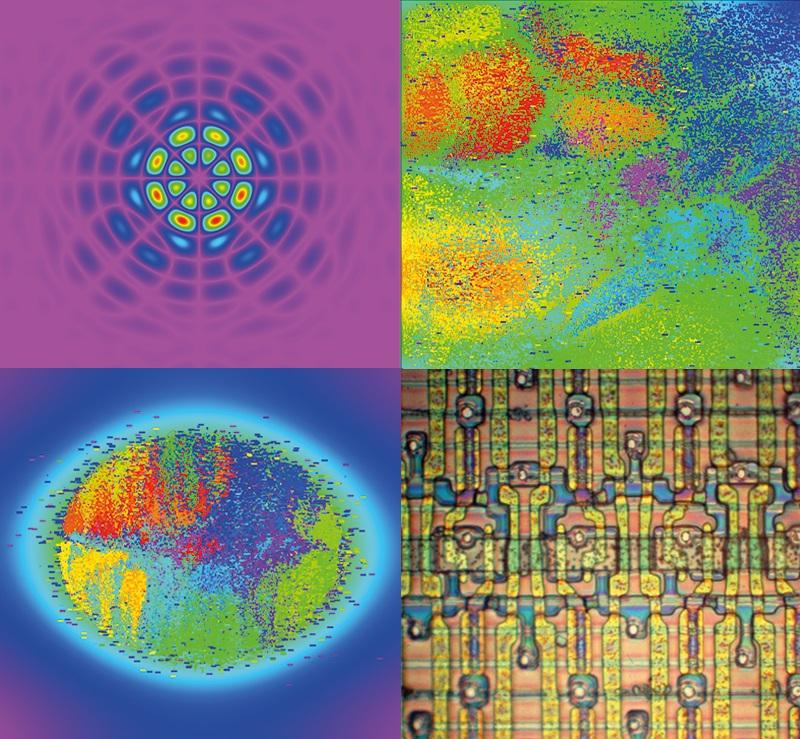 Conjunto de imagens obtidas de chips com um microsópio pelo professor Ricardo Reis, do Instituto de Informática da Ufrgs