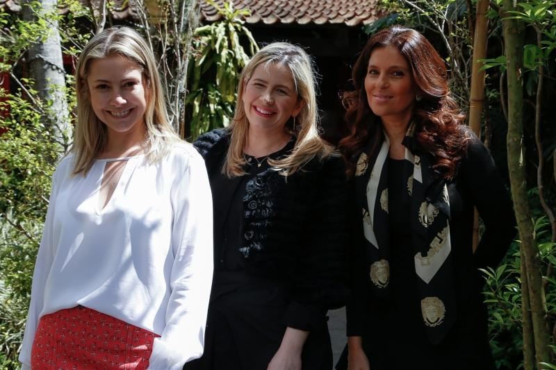 Renata Hoff, Karina Trachtenberg e Xuxa Pires na apresentação da grife Ioschpe Wedding, no Restaurante Cozy