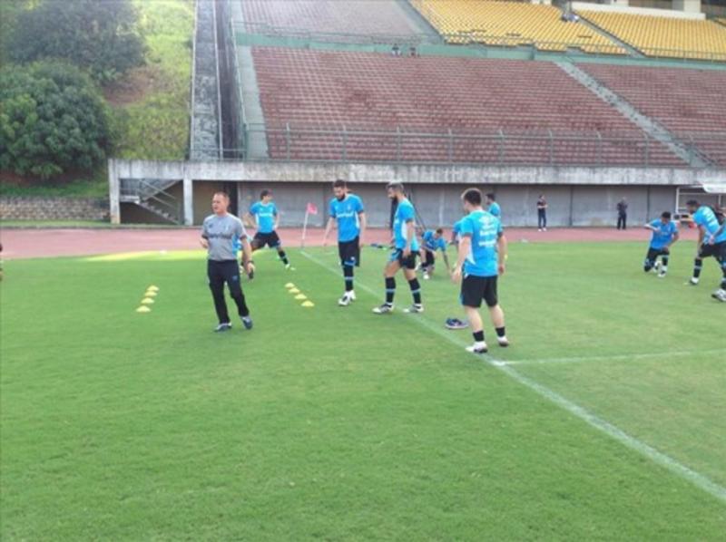 Portaluppi armou a equipe com mudanças e esboçou a escalação com Iago e Henrique Almeida entre os titulares